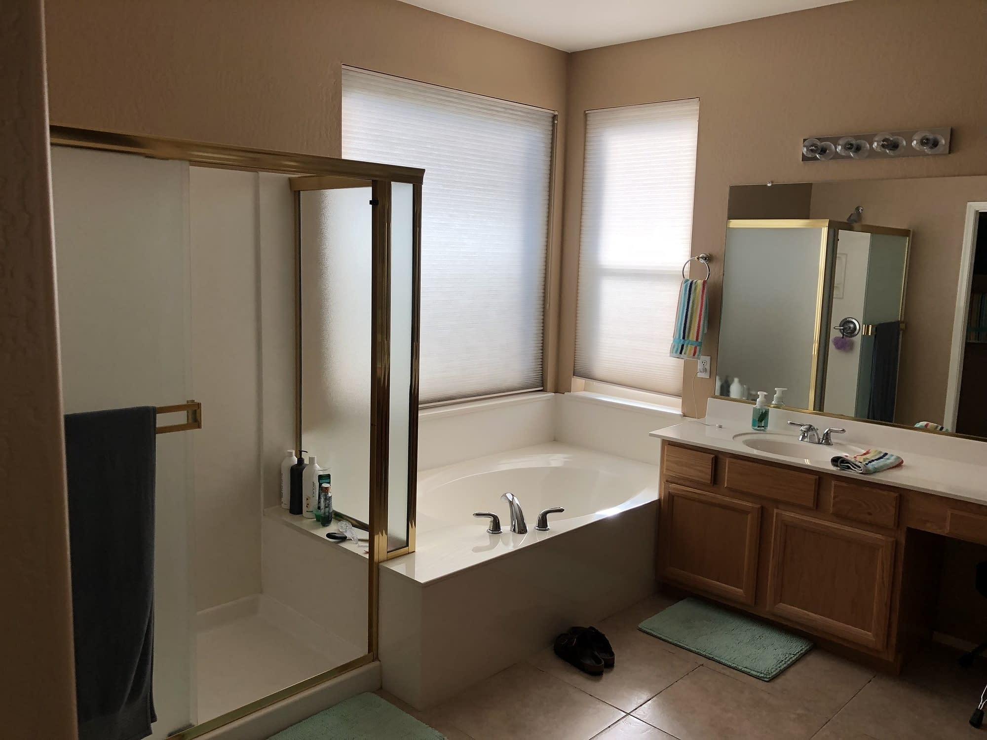 master bathroom remodel Chandler before