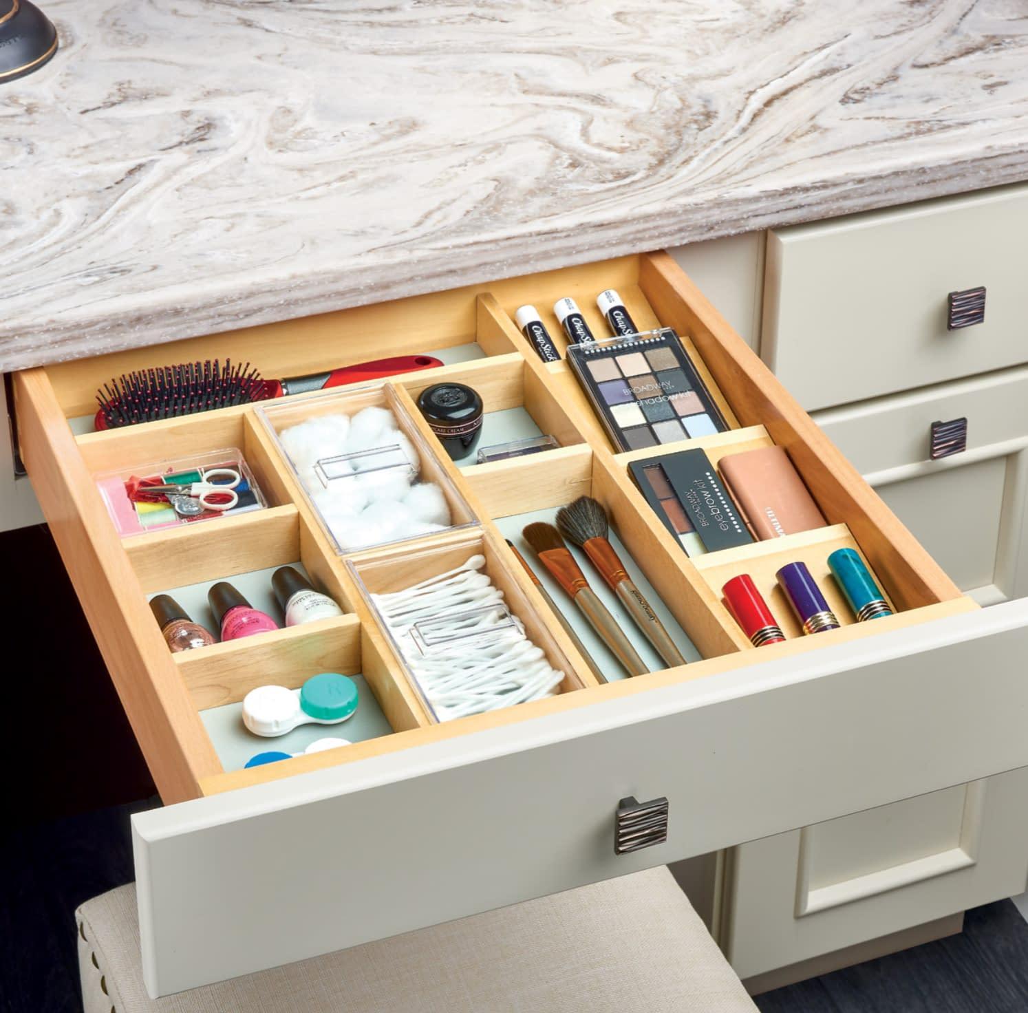 bathroom drawer storage small items