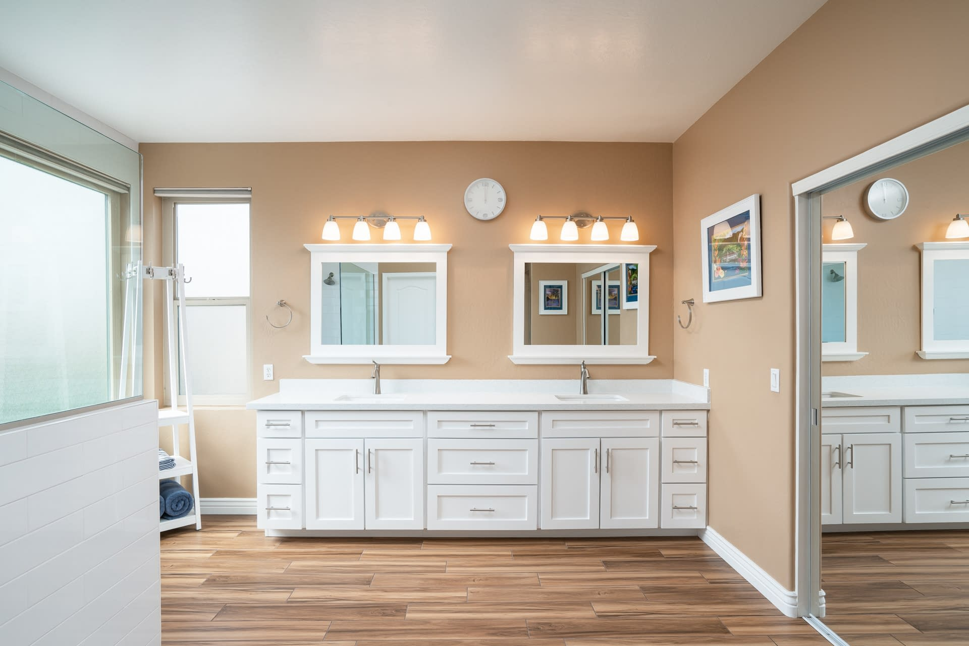 master bathroom vanity remodel Tempe after