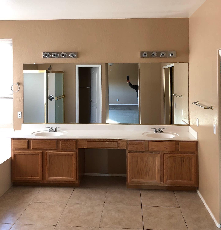 master bathroom vanity remodel Tempe before