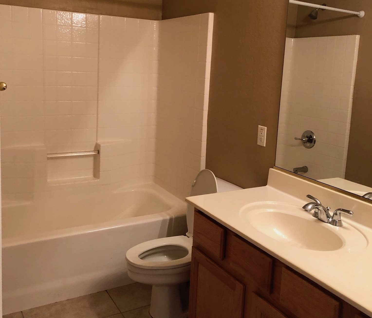 guest bathroom remodel Ahwatukee before