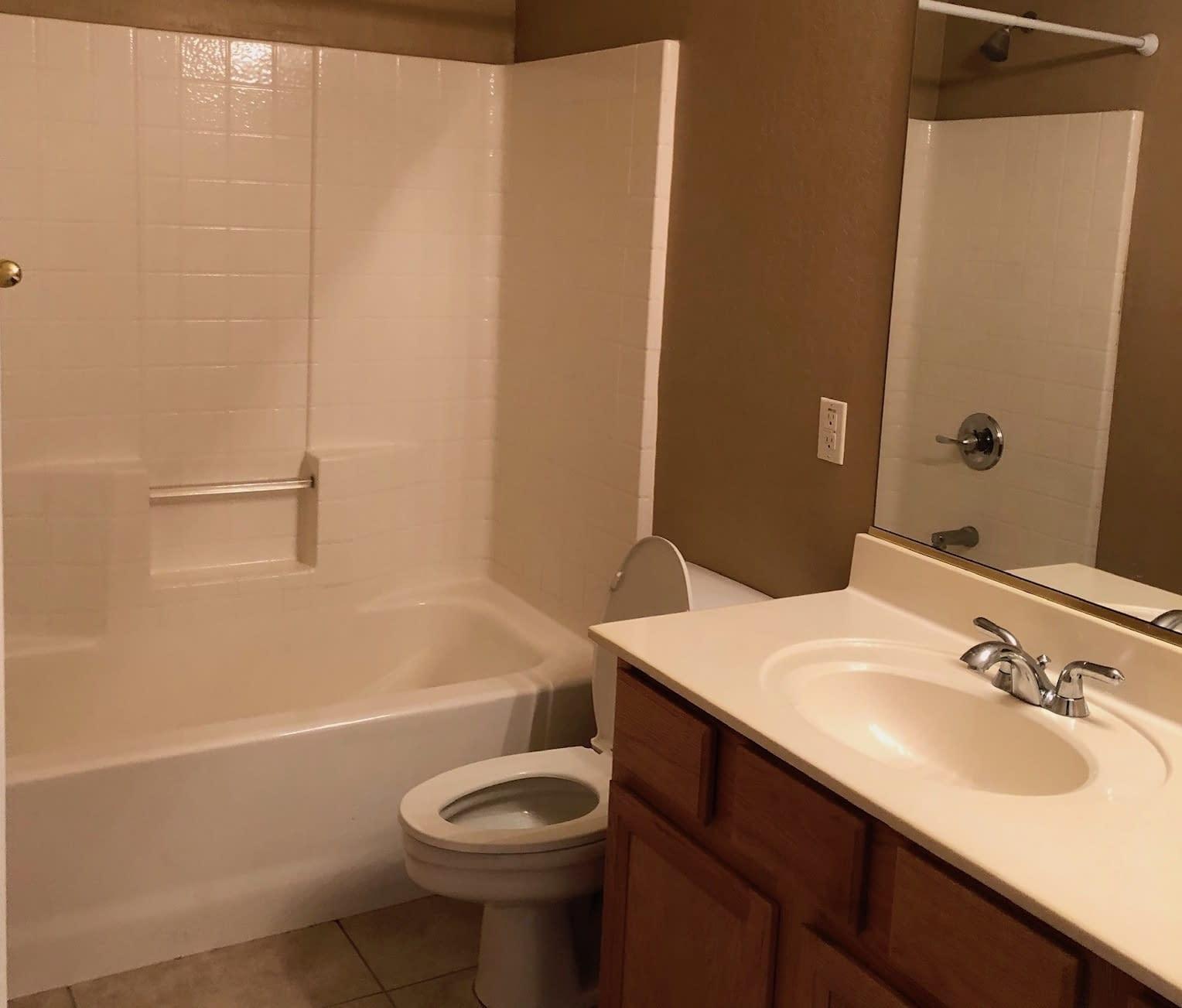 guest bathroom remodel Chandler before