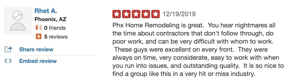Rhet guest bathroom remodel review