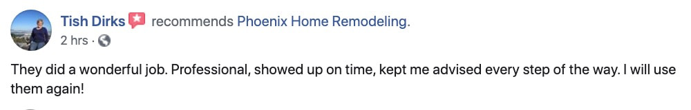 Tish Dirks review of fireplace remodel and painting