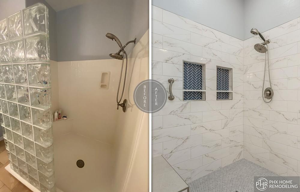 shower expansion remodeling in phoenix az