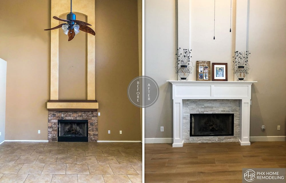 fireplace remodeling in ahwatukee