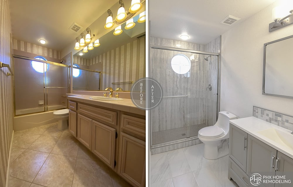 guest bathroom remodel in sun lakes