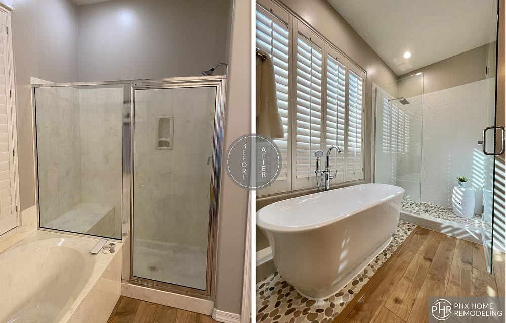 shower and bathtub remodeling in phoenix