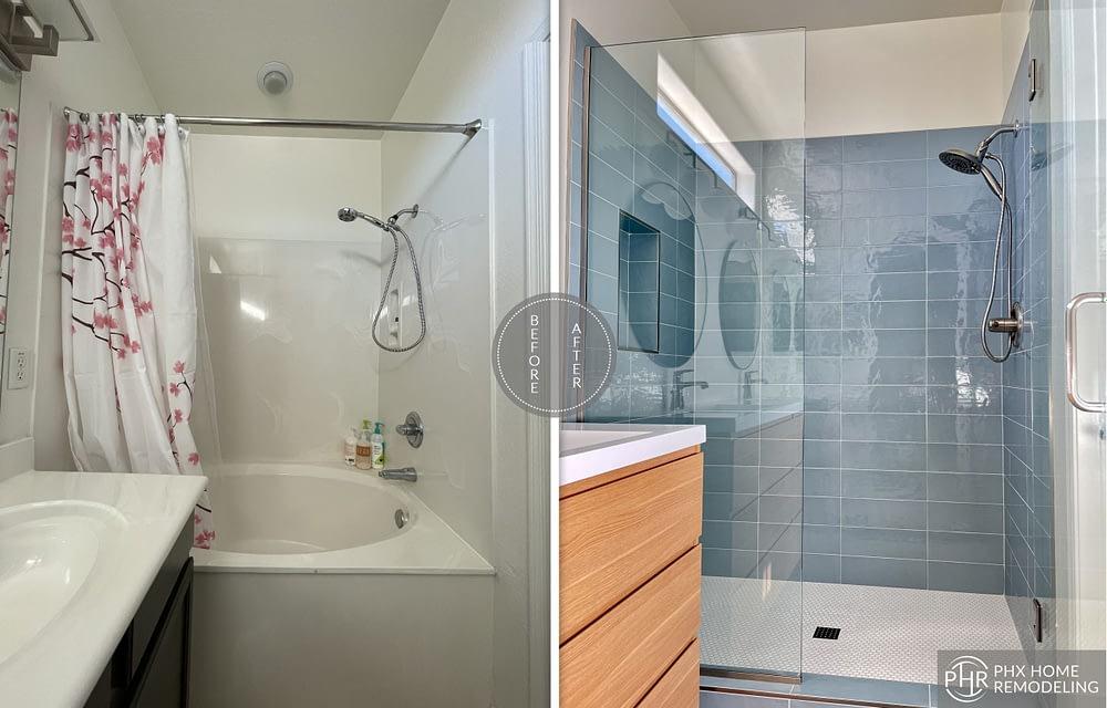 simple shower remodel in chandler az