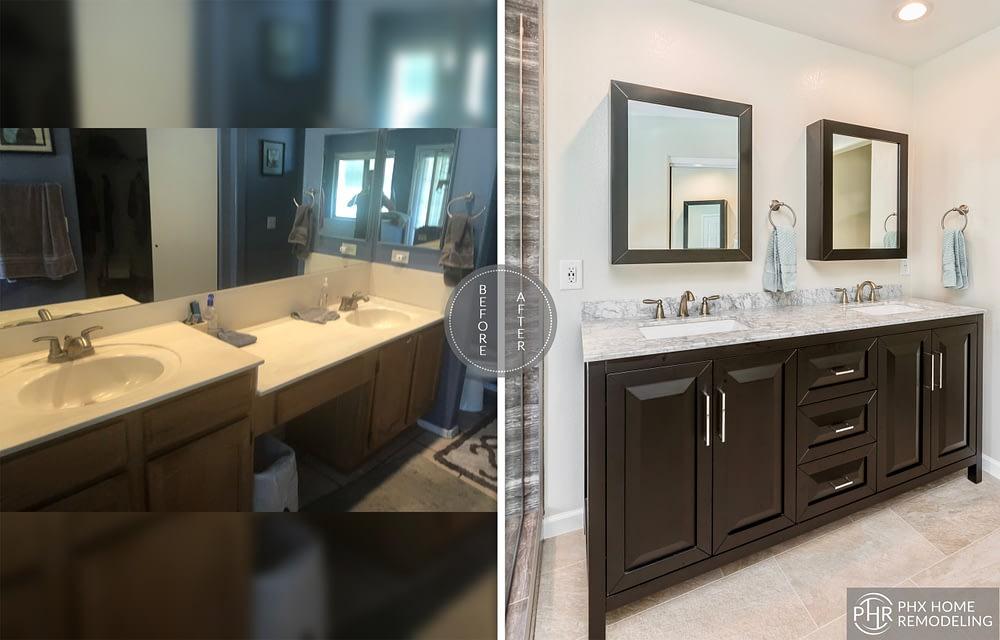 vanity area remodel in chandler
