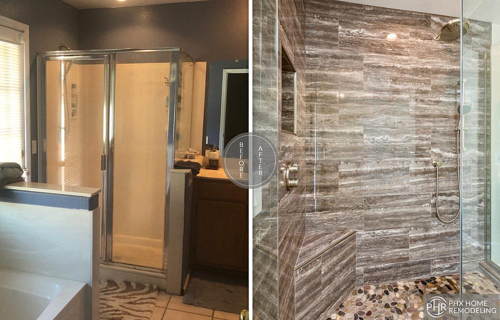 bathroom shower remodel in chandler