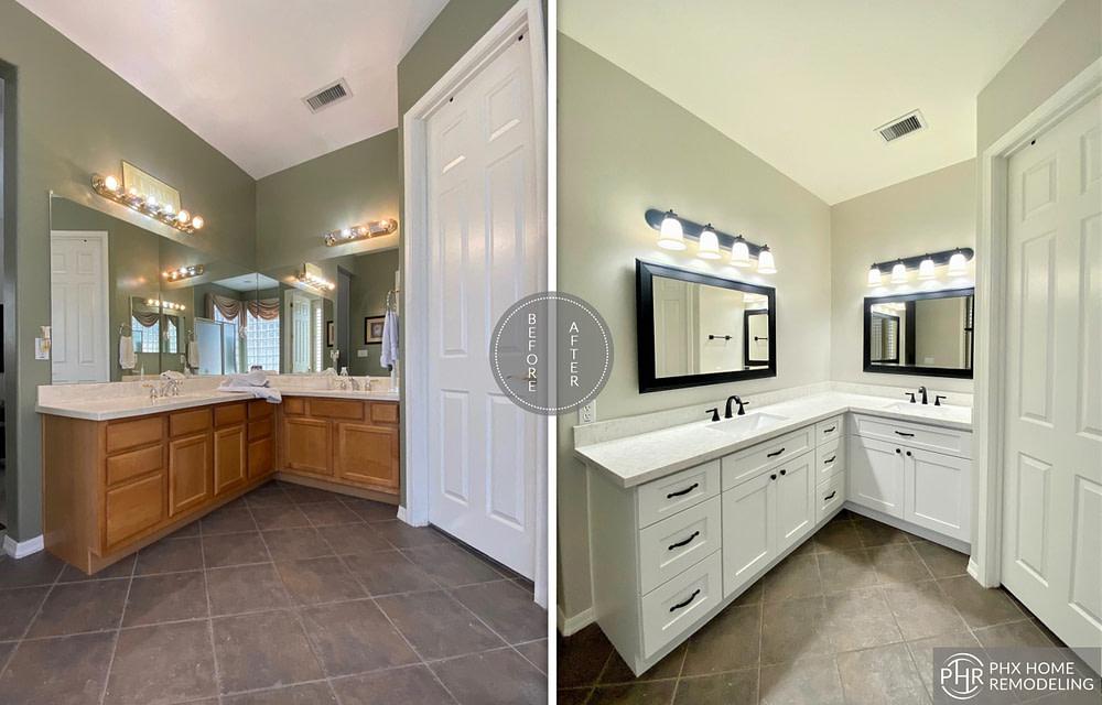 bathroom vanity remodel in phoenix
