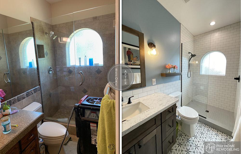 bunk bed bathroom remodel in tempe arizona