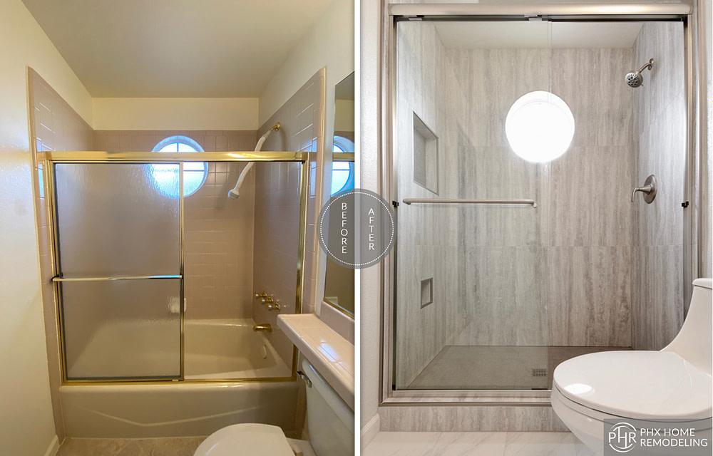 casita shower remodel in sun lakes