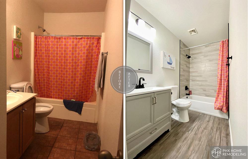 master bathroom shower remodel in gilbert