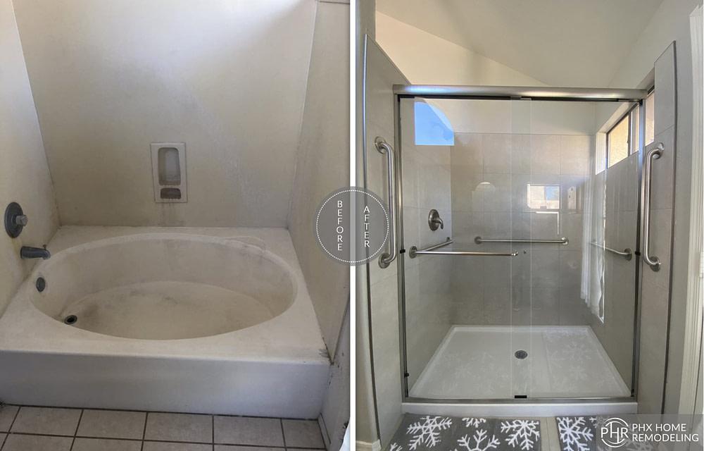 phoenix shower bathtub remodel