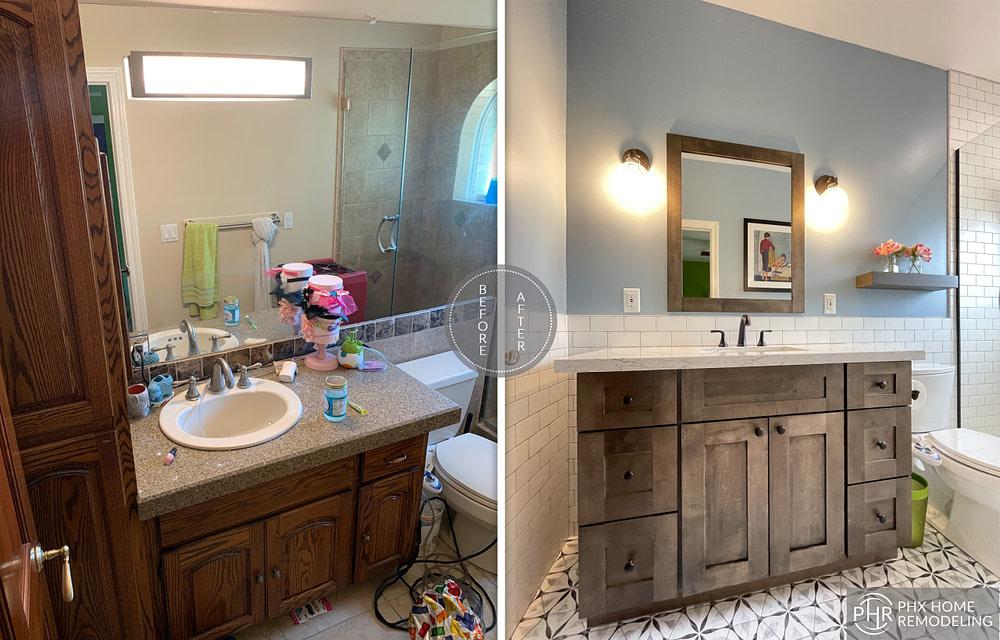 tempe vanity renovation arizona with white countertop