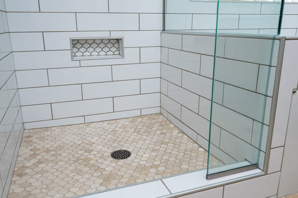Chandler shower floor remodel