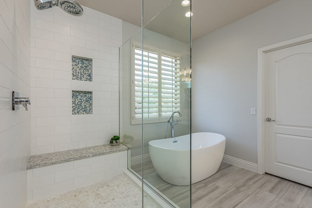Ahwatukee Master shower and bathtub remodel