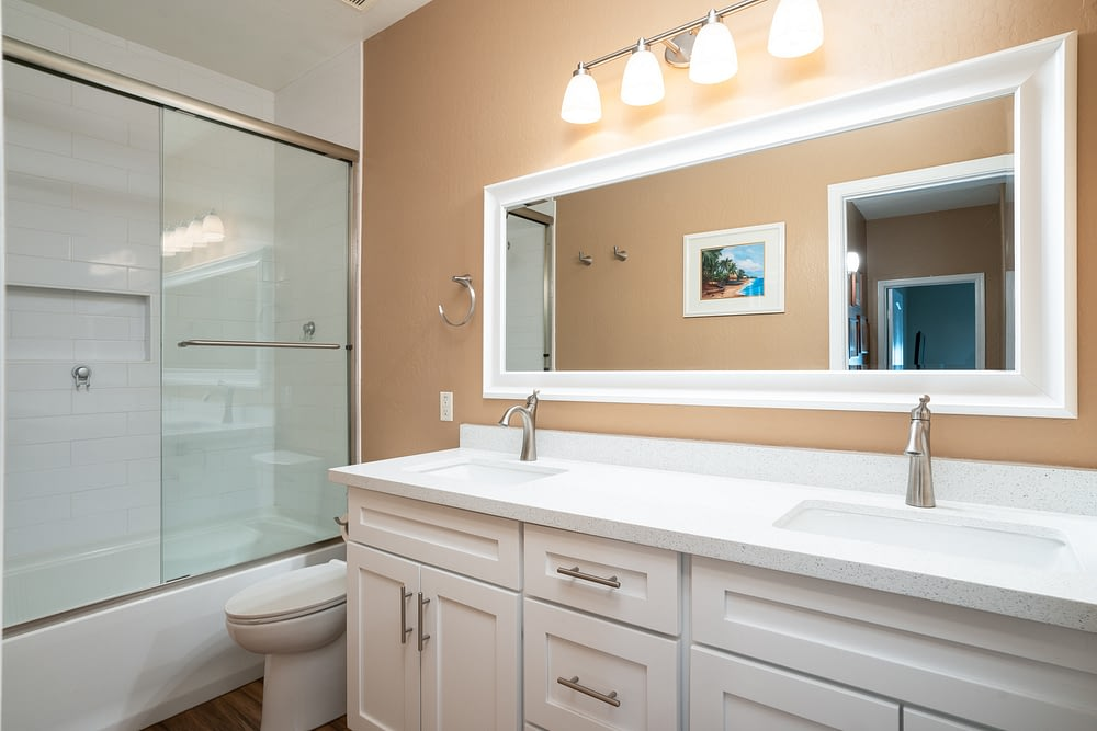 guest bathroom remodel Tempe after