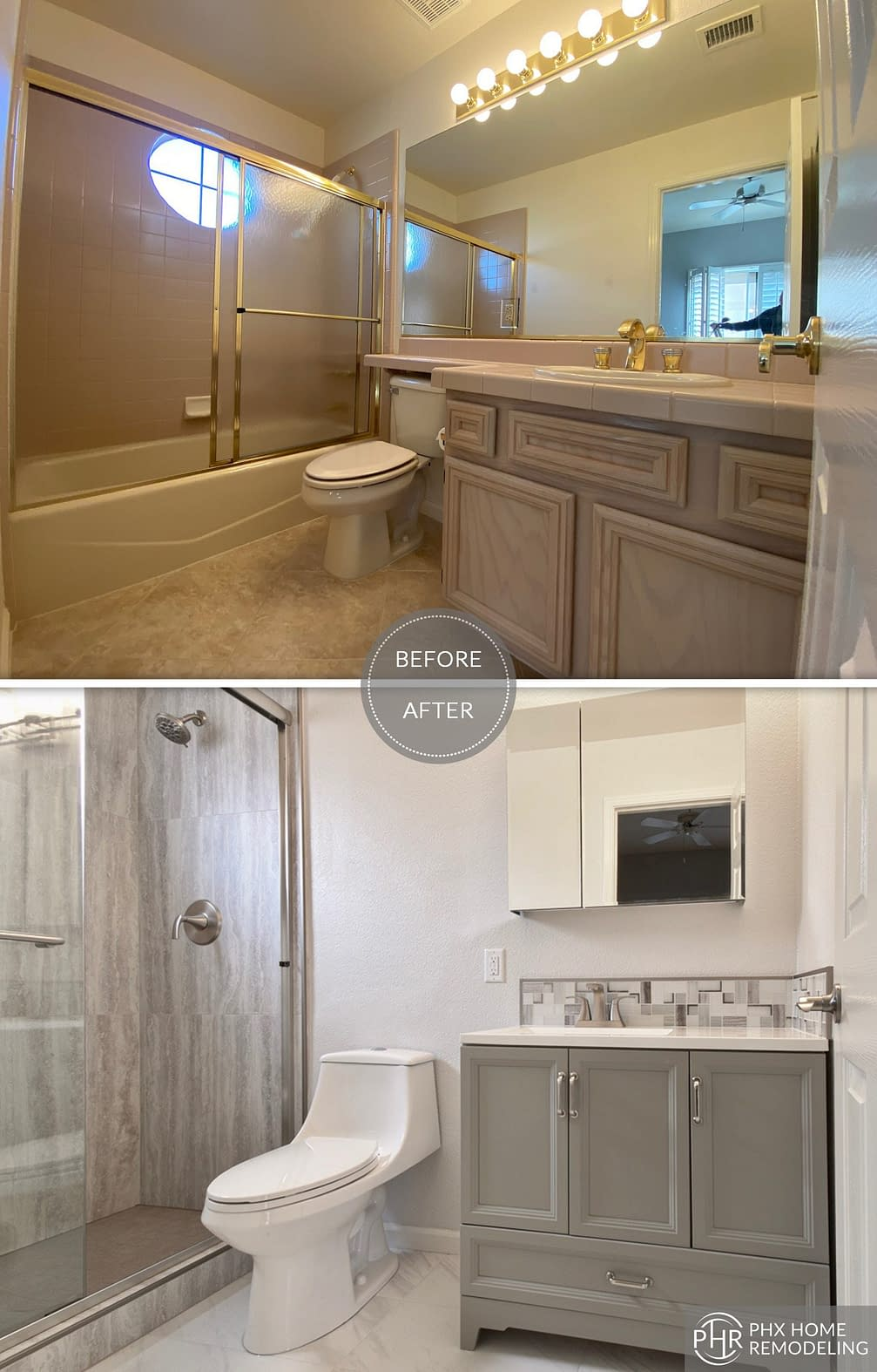 casita vanity bathroom remodel in sun lakes