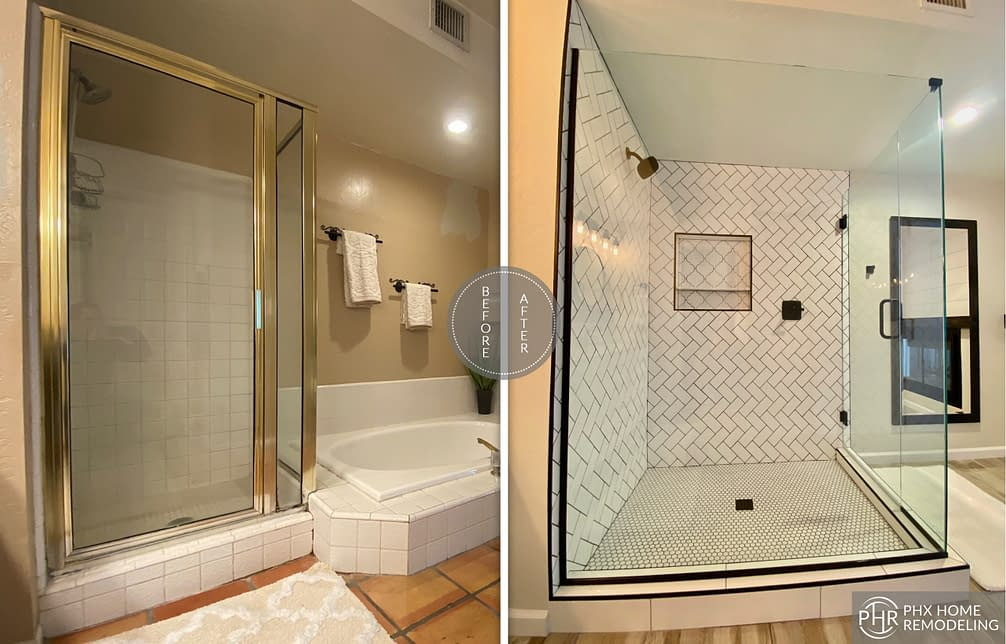 shower remodel in phoenix