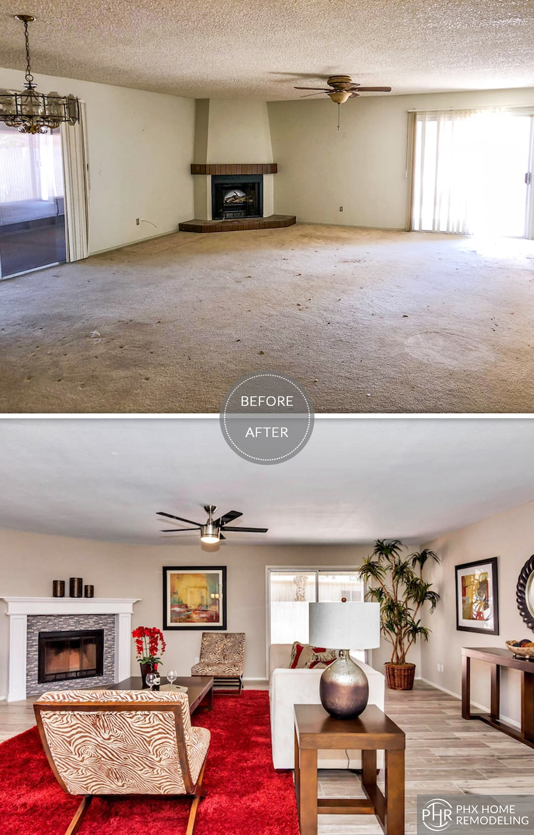 fireplace remodel in sun lakes