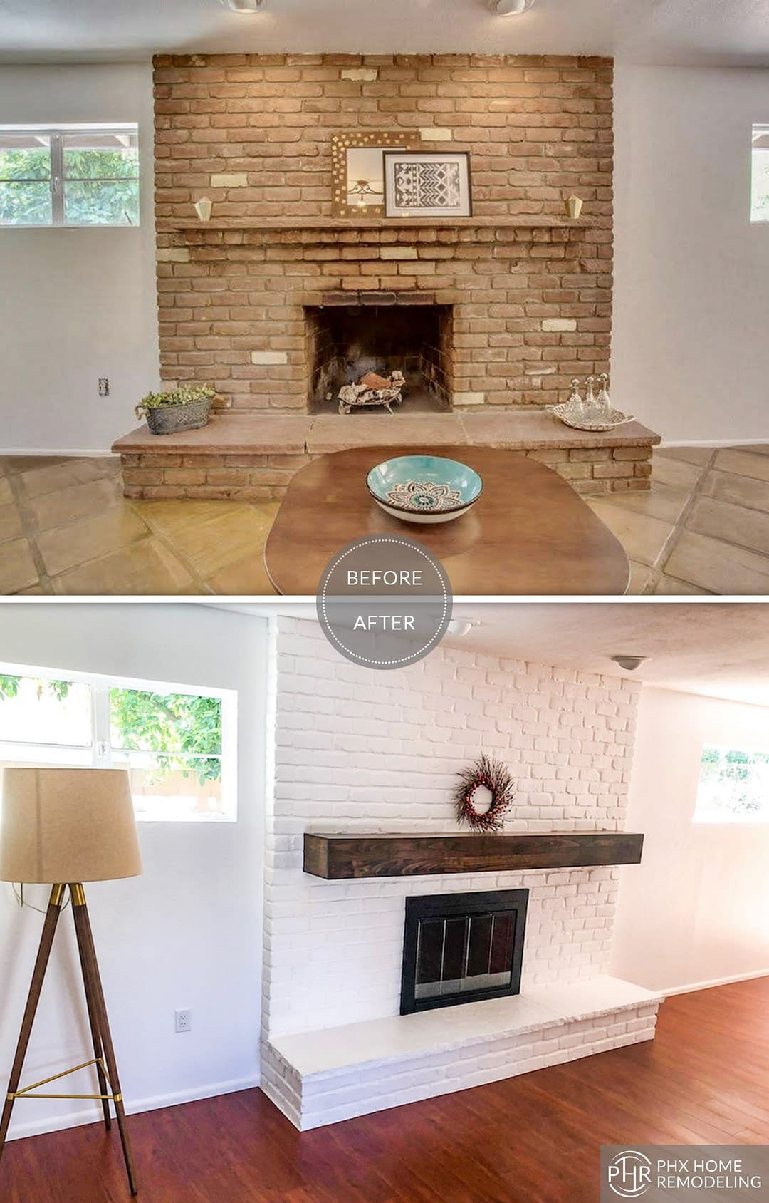 fireplace remodel in tempe