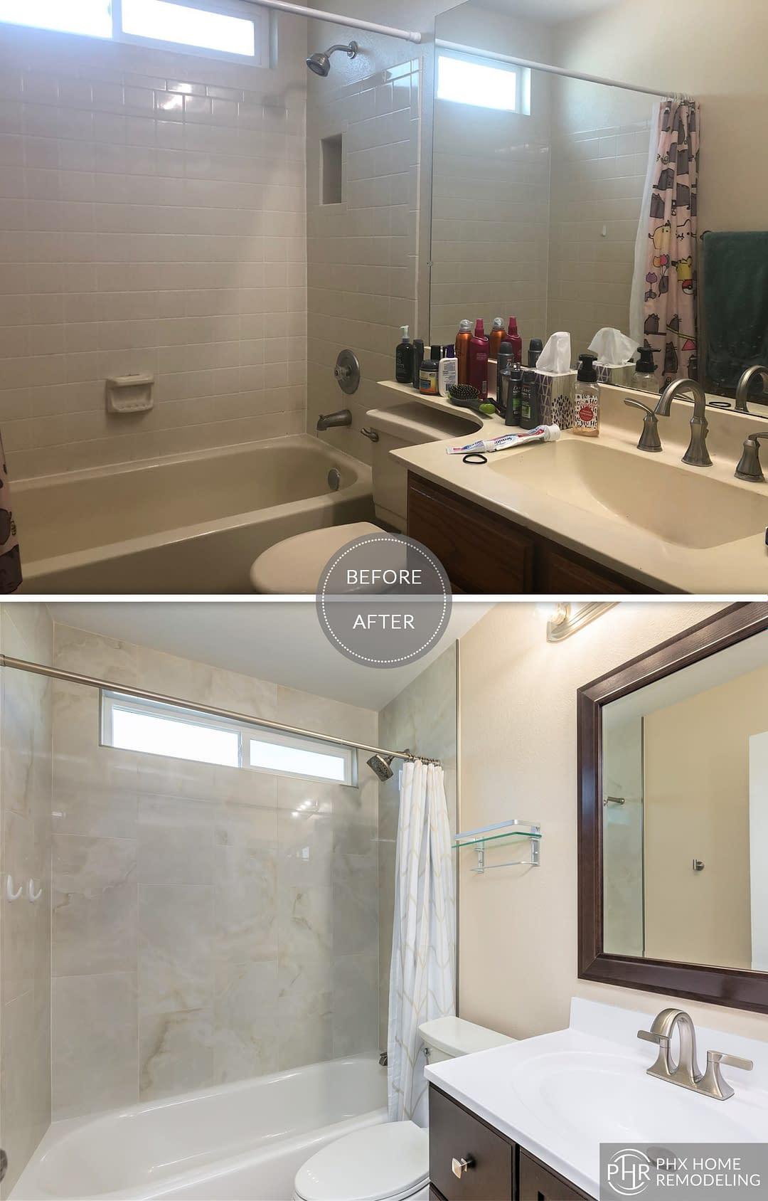 guest bathroom remodel in tempe