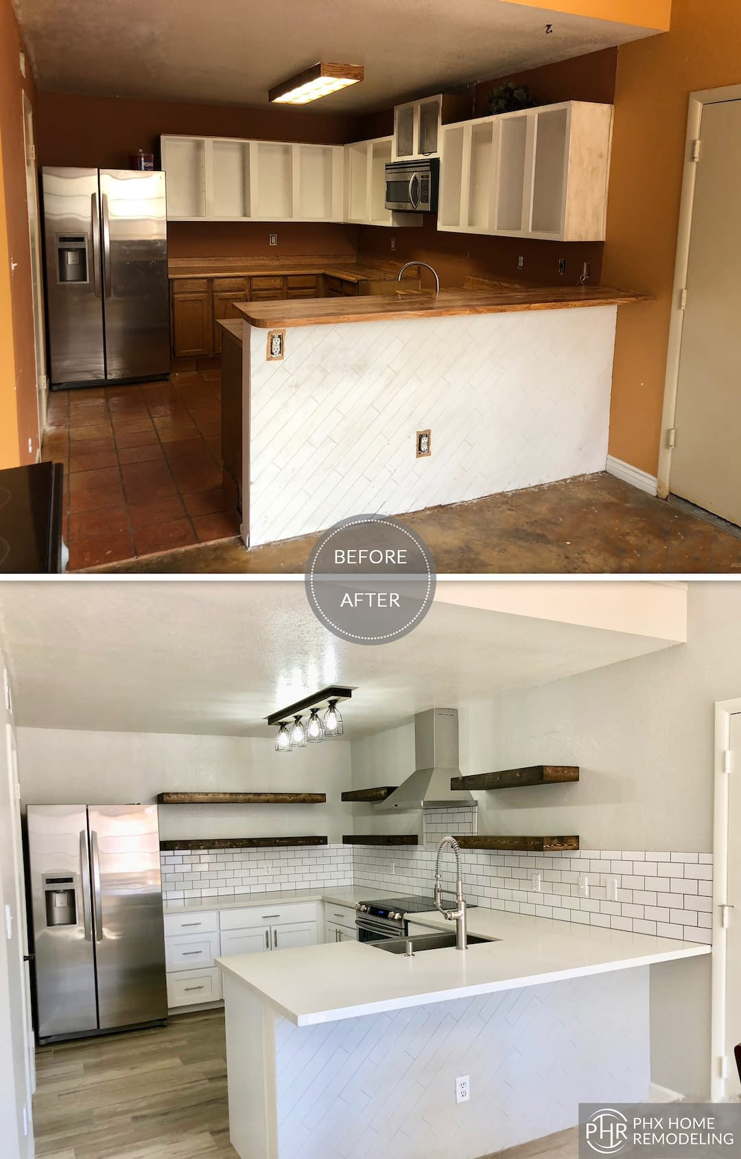 kitchen renovation with new countertops candler az