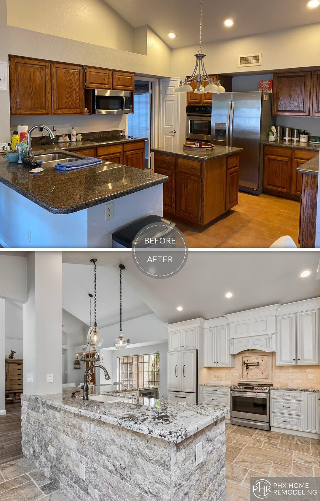 spacious white kitchen remodel in tempe