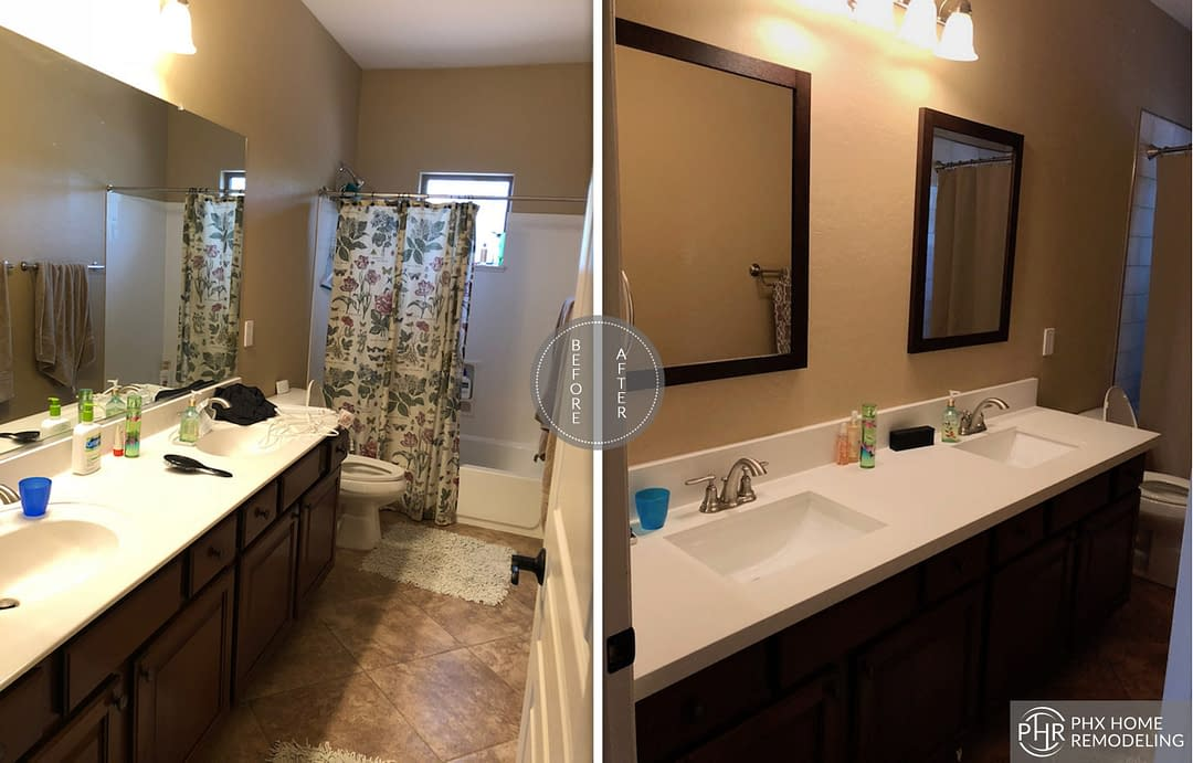 small bathroom remodel in chandler