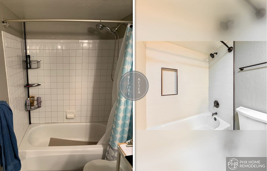 guest bathroom shower remodel in phoenix