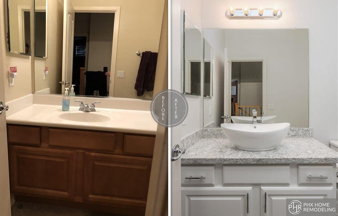 guest bathroom vanity remodel in chandler