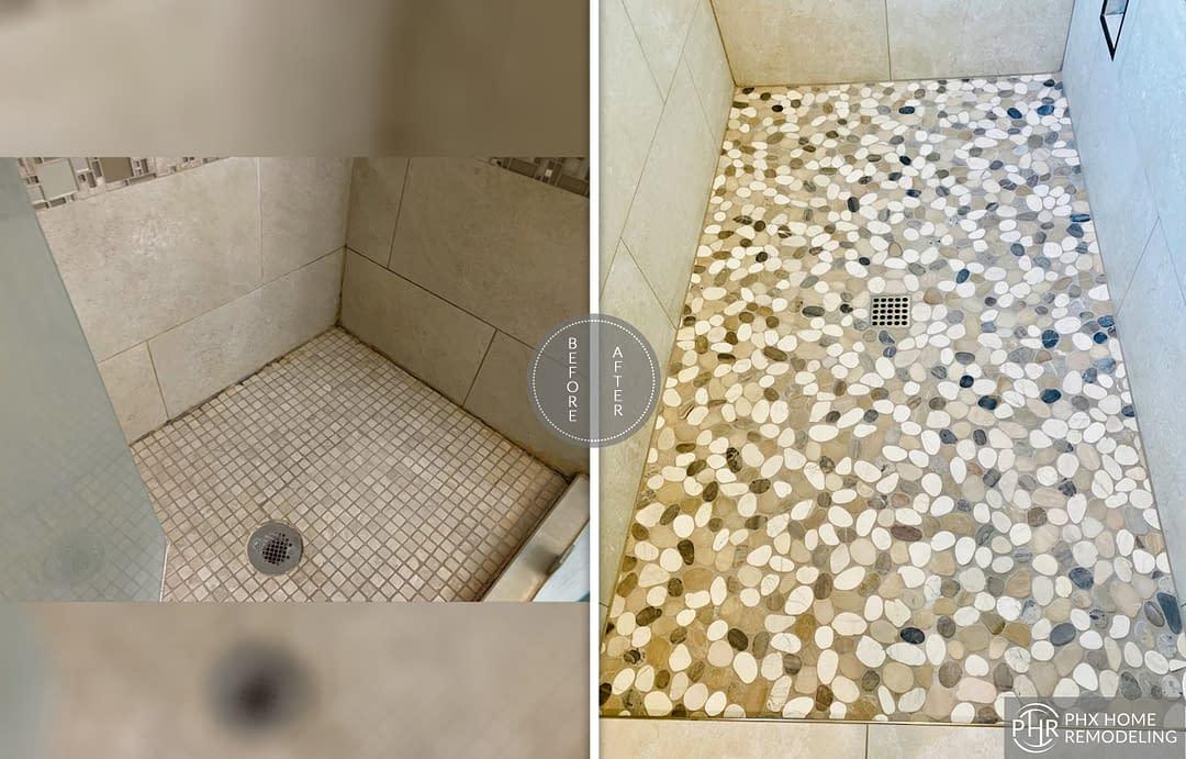 shower room tiles remodel in gilbert