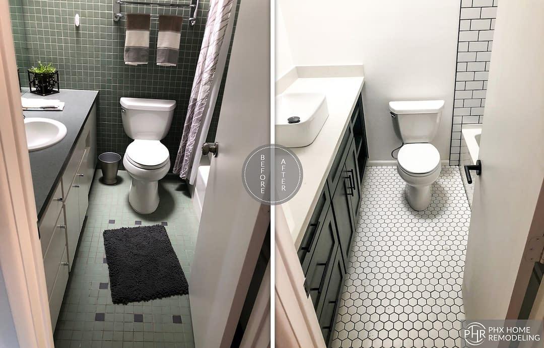toilet small bathroom remodel in tempe