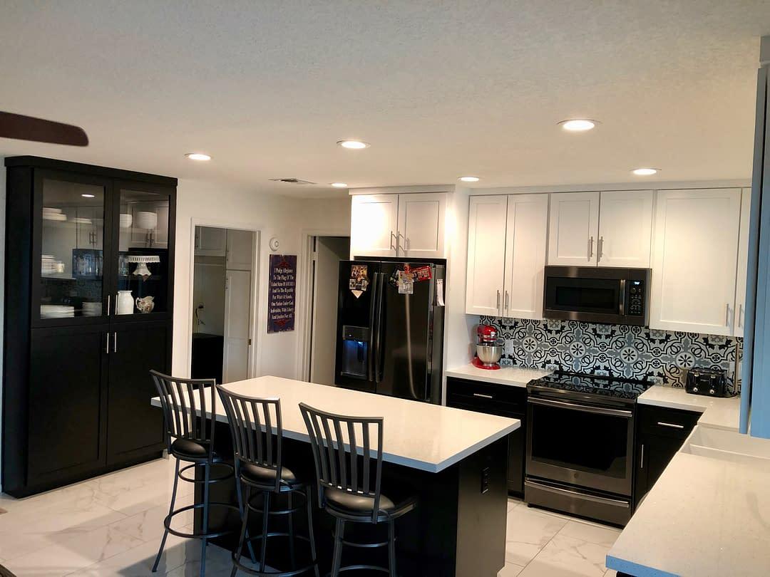 NEw kitchen remodel with great tile backsplash