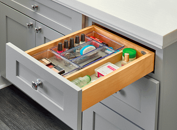 bathroom clear drawer storage
