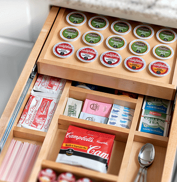keurig kitchen drawer storage organizer
