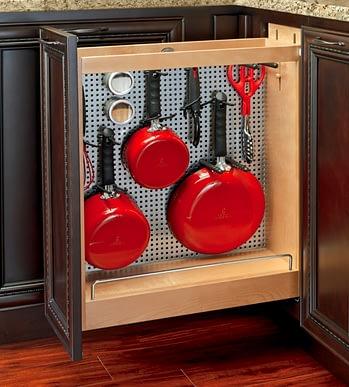 kitchen pan storage metal organizer