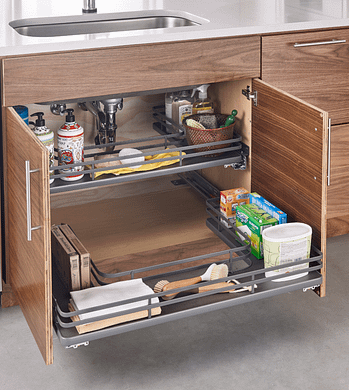 under sink pull out kitchen storage