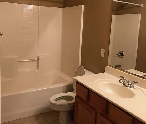 guest bathroom remodel Phoenix before