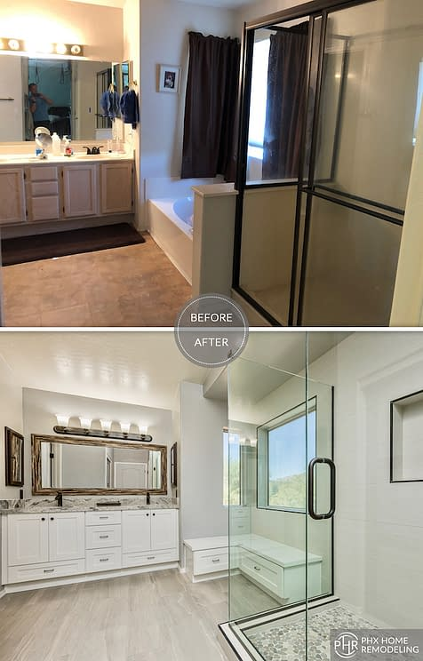 master bathroom remodel service in ahwatukee