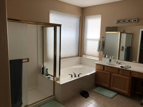 master bathroom remodel Phoenix before