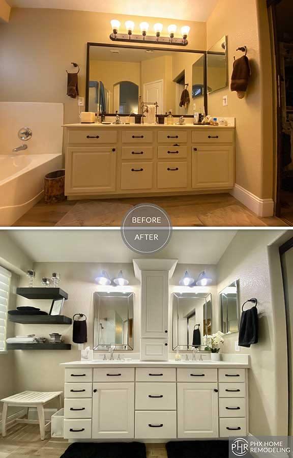 vanity remodel in chandler