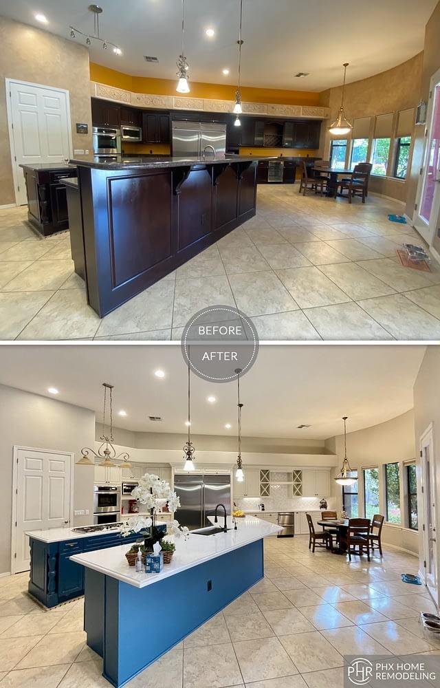 chandler az spacious kitchen renovation with island