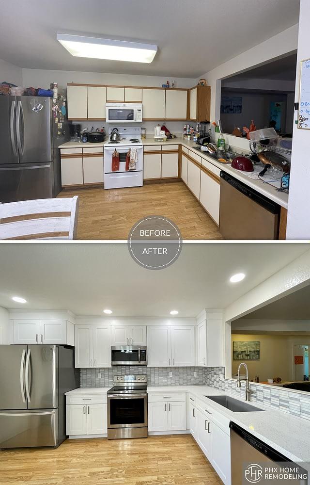 chandler white simple kitchen with backsplash in arizona