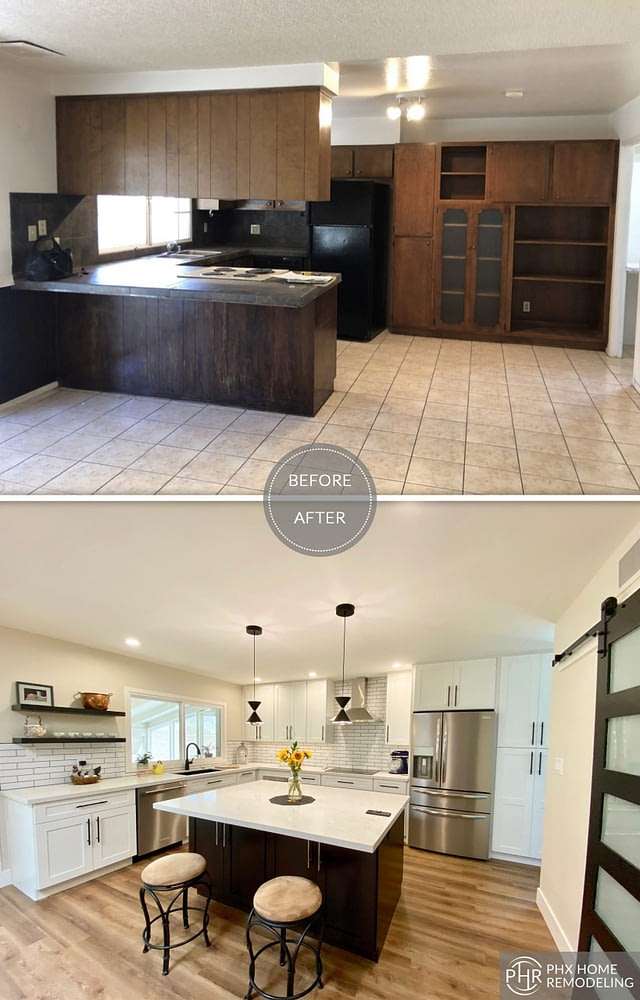 clean white kitchen remodel in tempe
