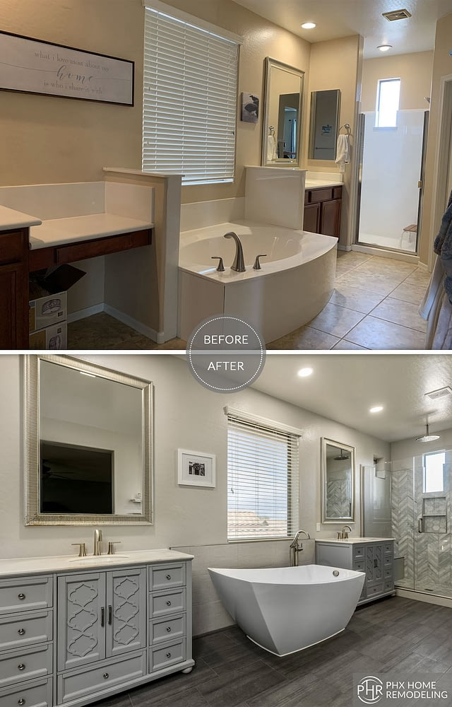 elegant bathroom remodel floor tiles in chandler az