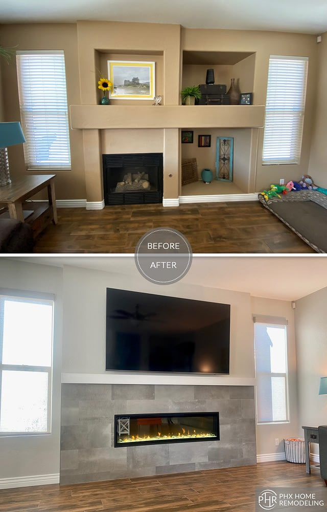 fireplace remodel in chandler scaled
